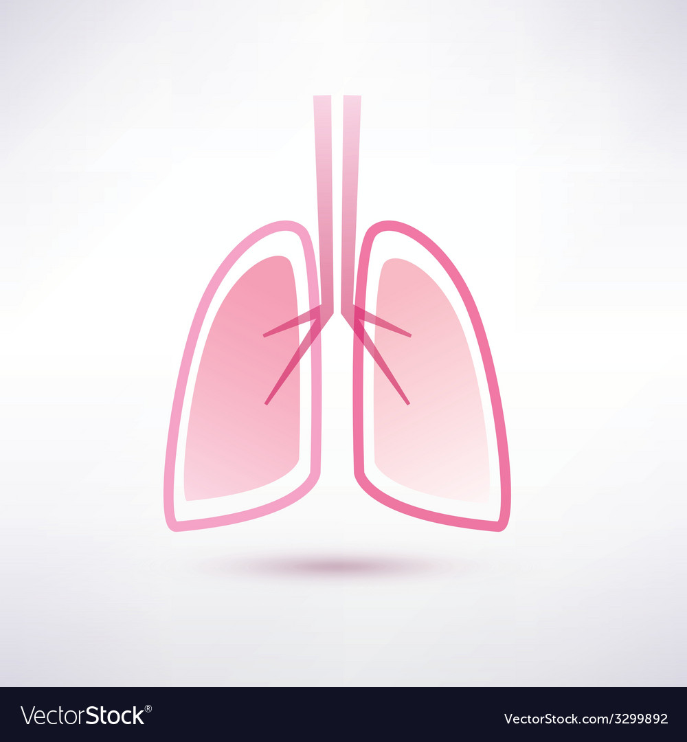 Lungs isolated symbol vector | Price: 1 Credit (USD $1)