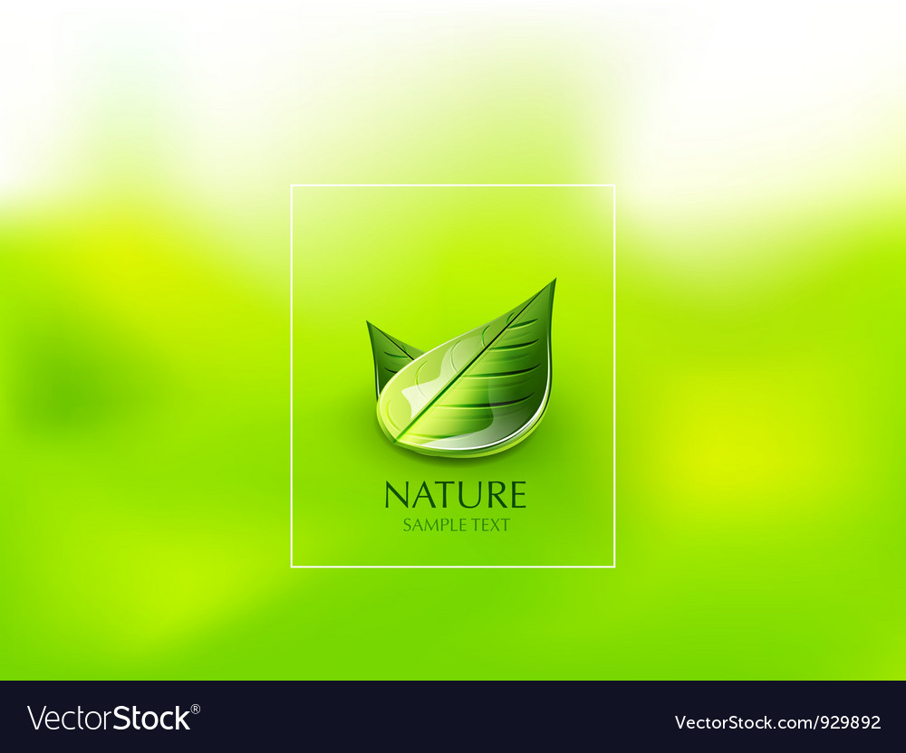 Nature green leaf concept vector | Price: 1 Credit (USD $1)