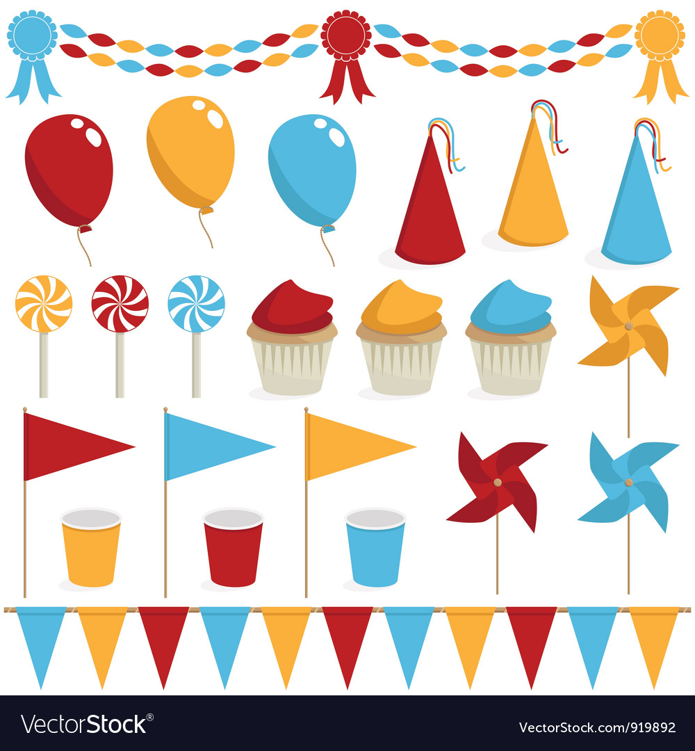 Party decorations vector | Price: 1 Credit (USD $1)