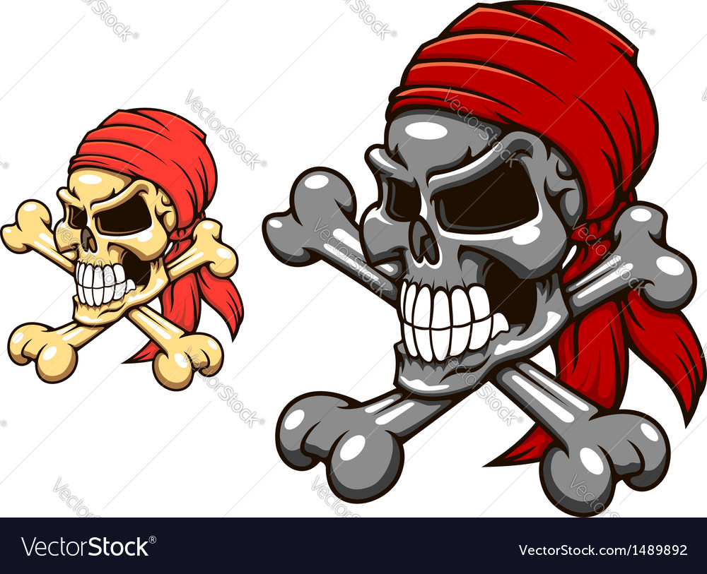 Pirate skull with crossbones vector | Price: 1 Credit (USD $1)