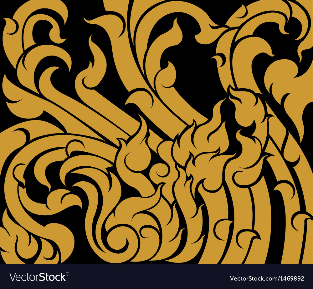 Thai old style pattern background vector | Price: 1 Credit (USD $1)