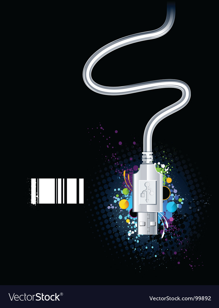 Usb wire vector | Price: 1 Credit (USD $1)