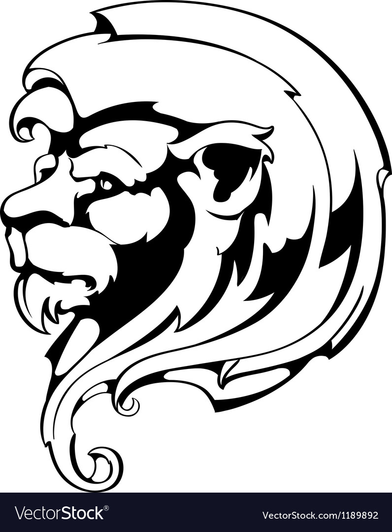 Vintage lion vector | Price: 1 Credit (USD $1)
