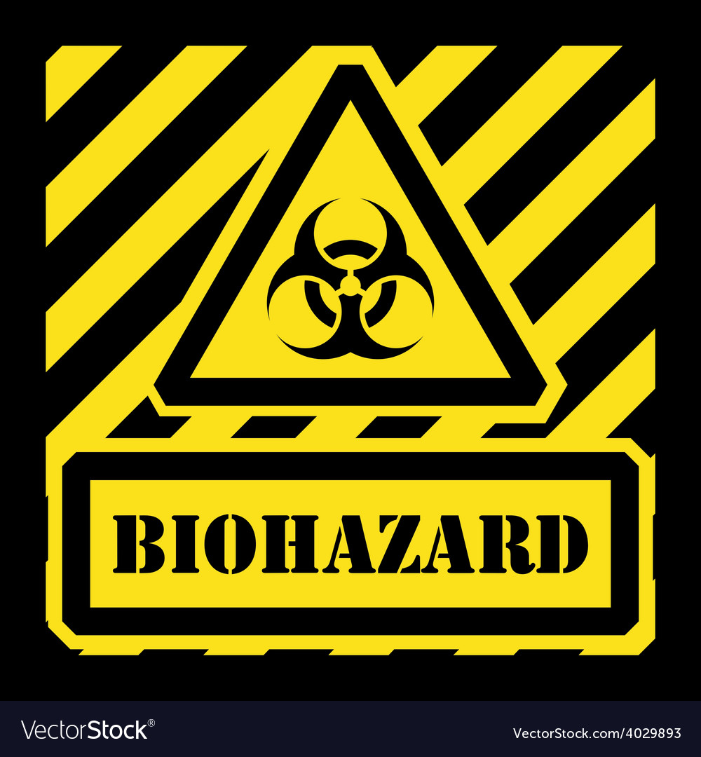 Biohazard sign yellow and black vector | Price: 1 Credit (USD $1)