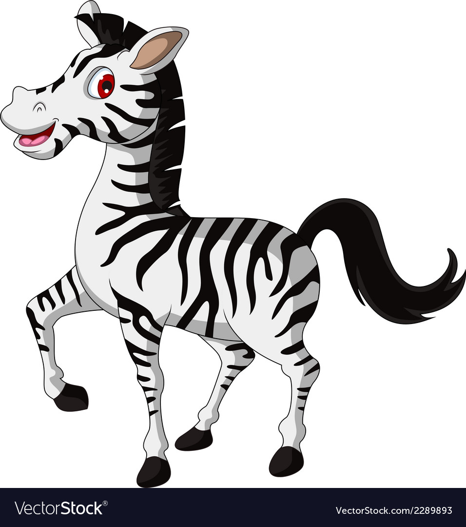 Cute zebra cartoon walking vector | Price: 1 Credit (USD $1)