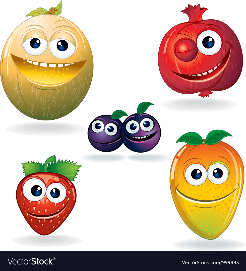 Fruit cartoons vector | Price: 1 Credit (USD $1)