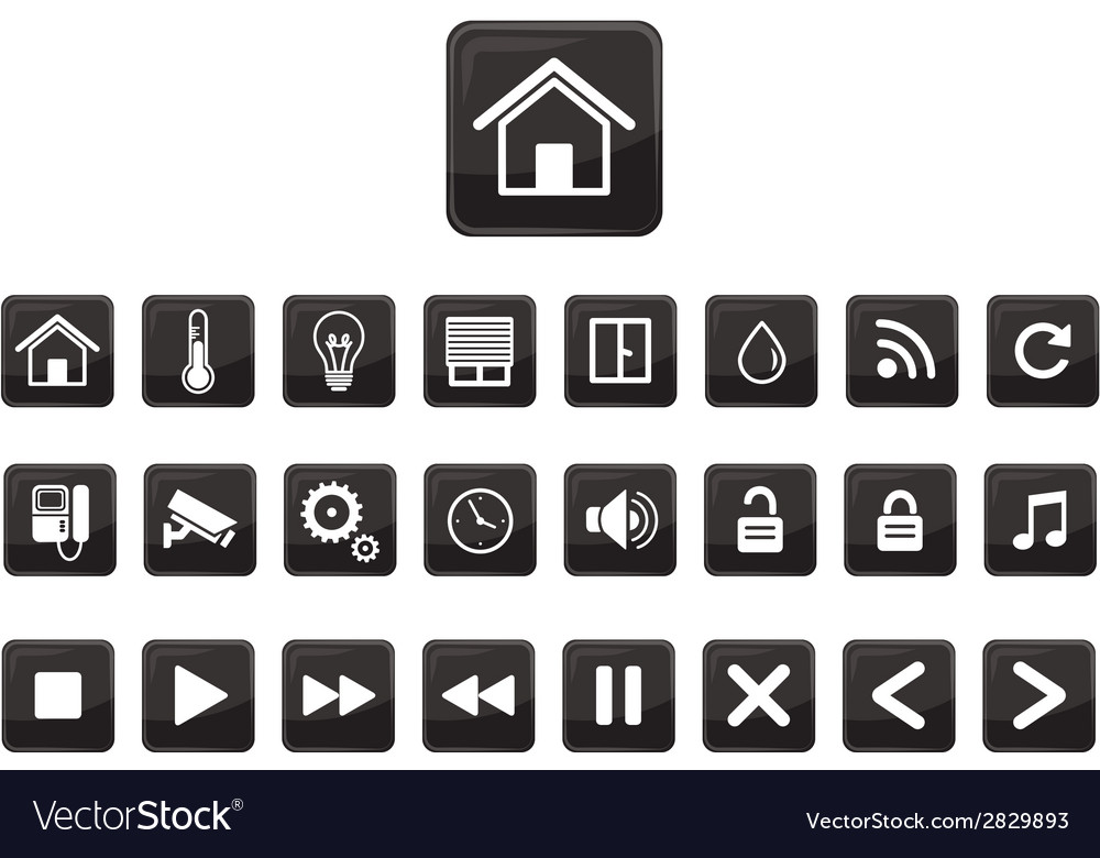 Home automation  smart home icon set vector | Price: 1 Credit (USD $1)