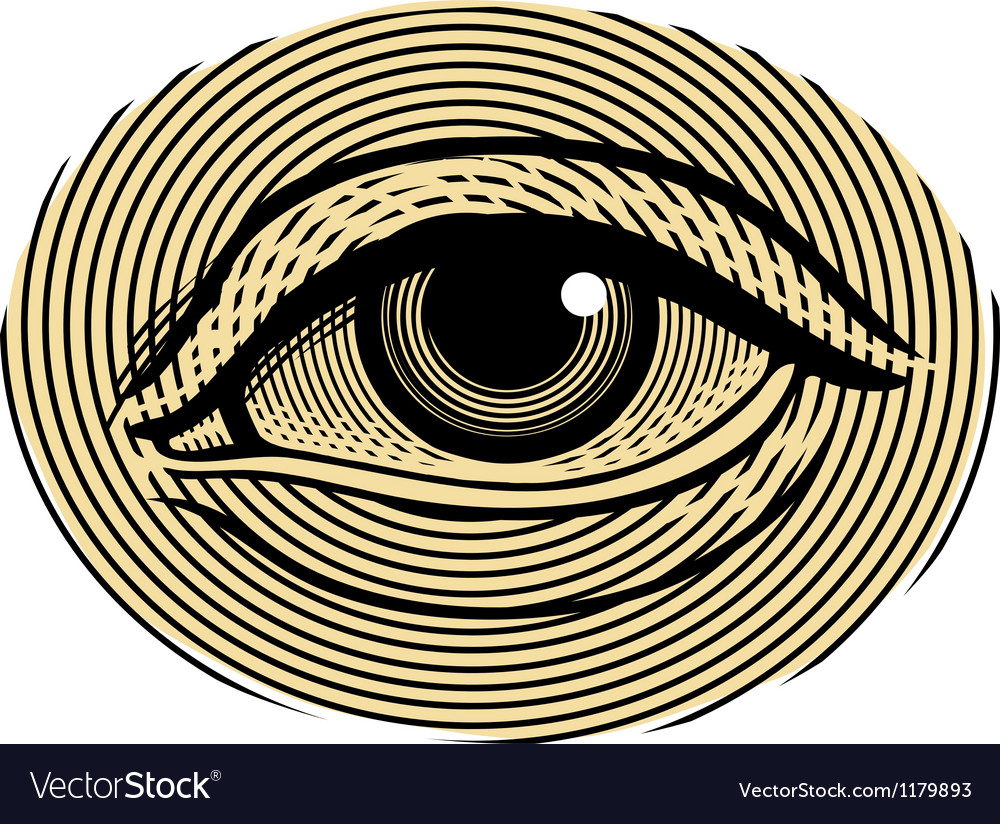 Human eye in vintage engraved style vector | Price: 1 Credit (USD $1)