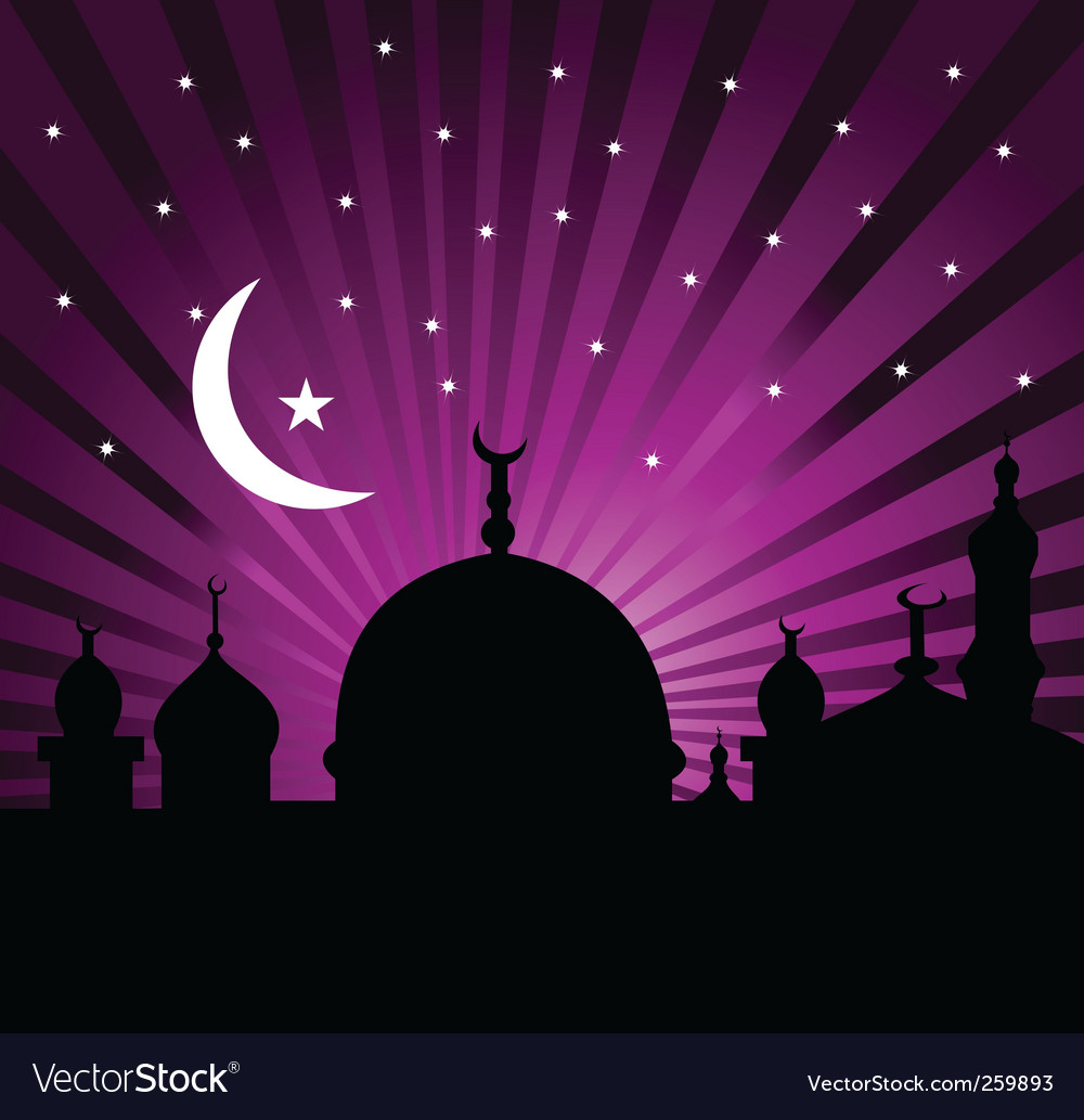 Islamic greeting card vector | Price: 1 Credit (USD $1)