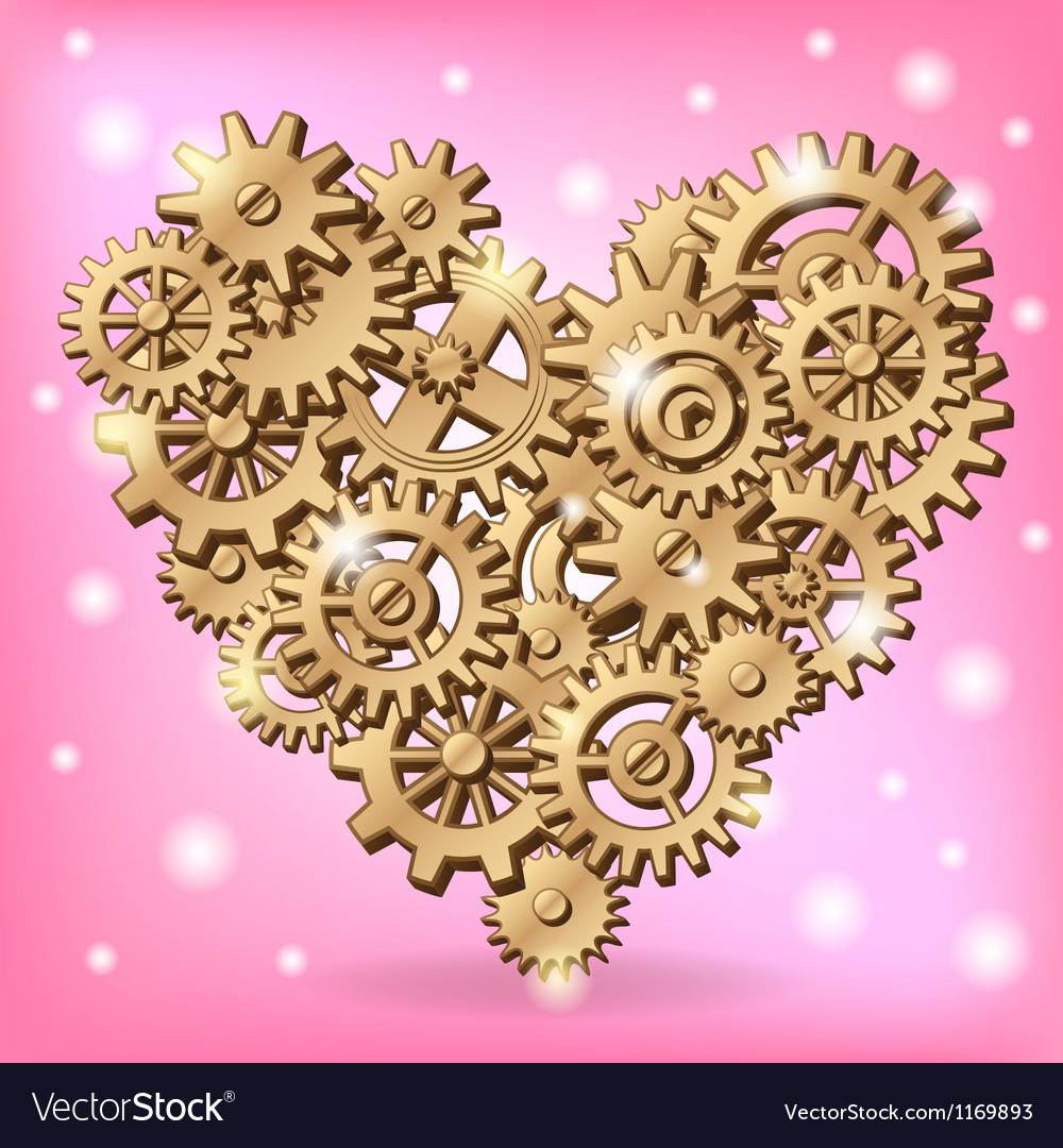 Mechanical heart symbol vector | Price: 1 Credit (USD $1)