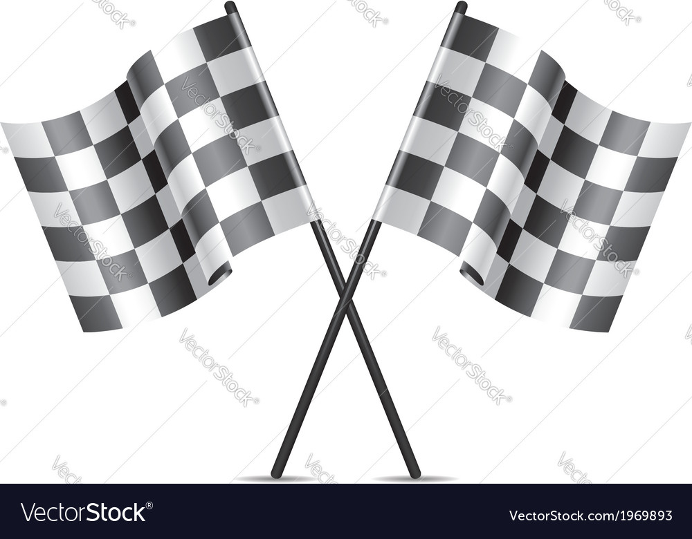 Racing flags icon vector | Price: 1 Credit (USD $1)