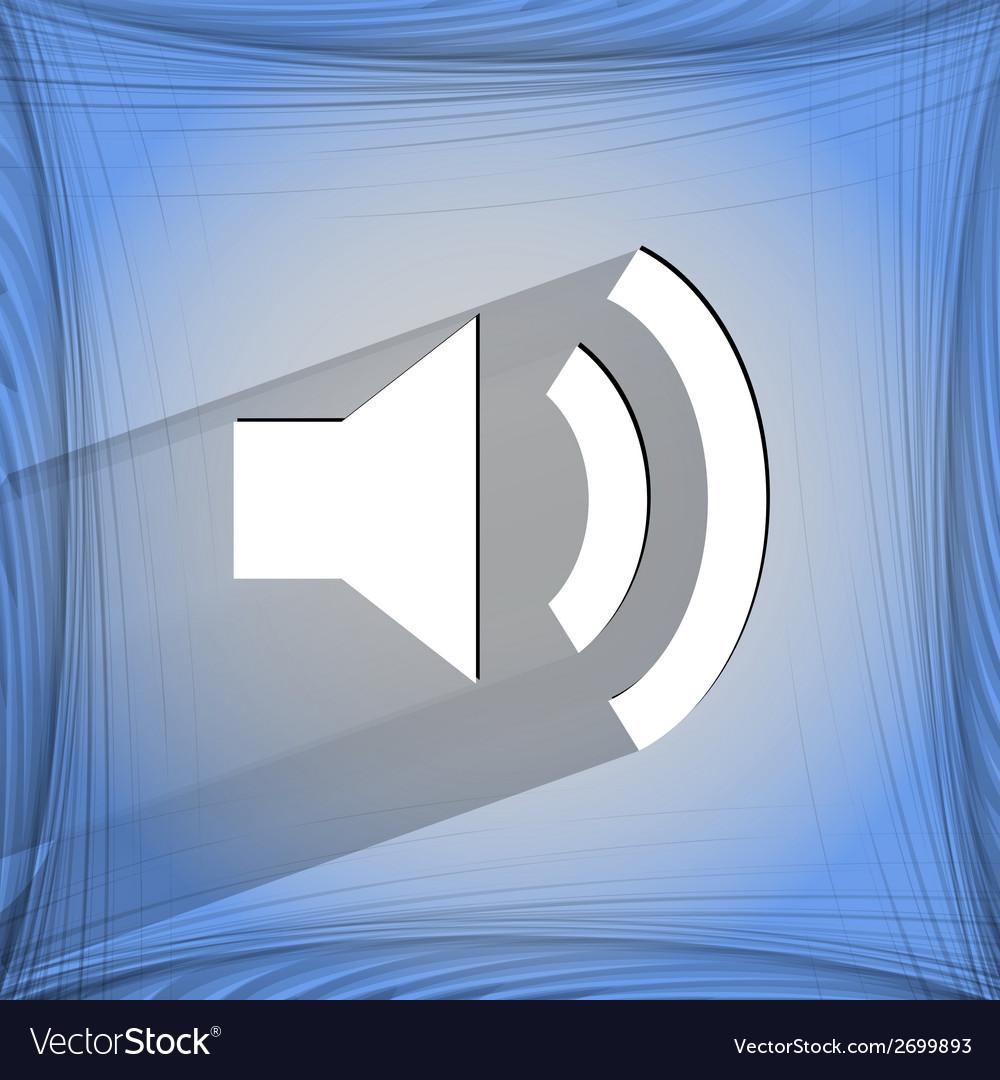 Speaker flat modern web design on a flat geometric vector | Price: 1 Credit (USD $1)
