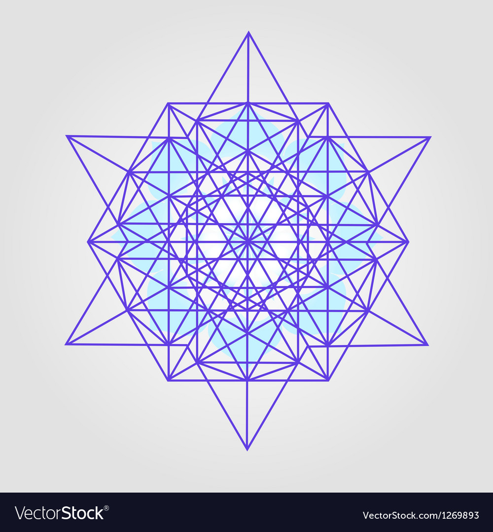 Star tetrahedron design vector | Price: 1 Credit (USD $1)
