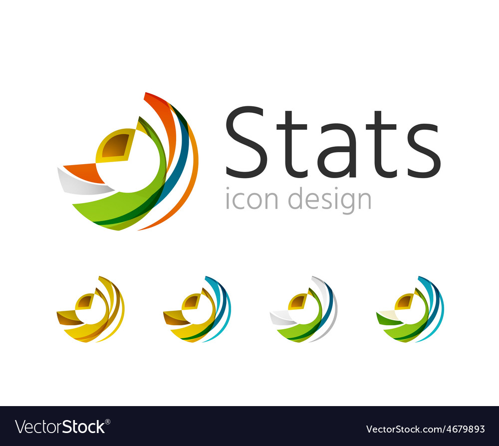 Statistics company logo set vector | Price: 1 Credit (USD $1)