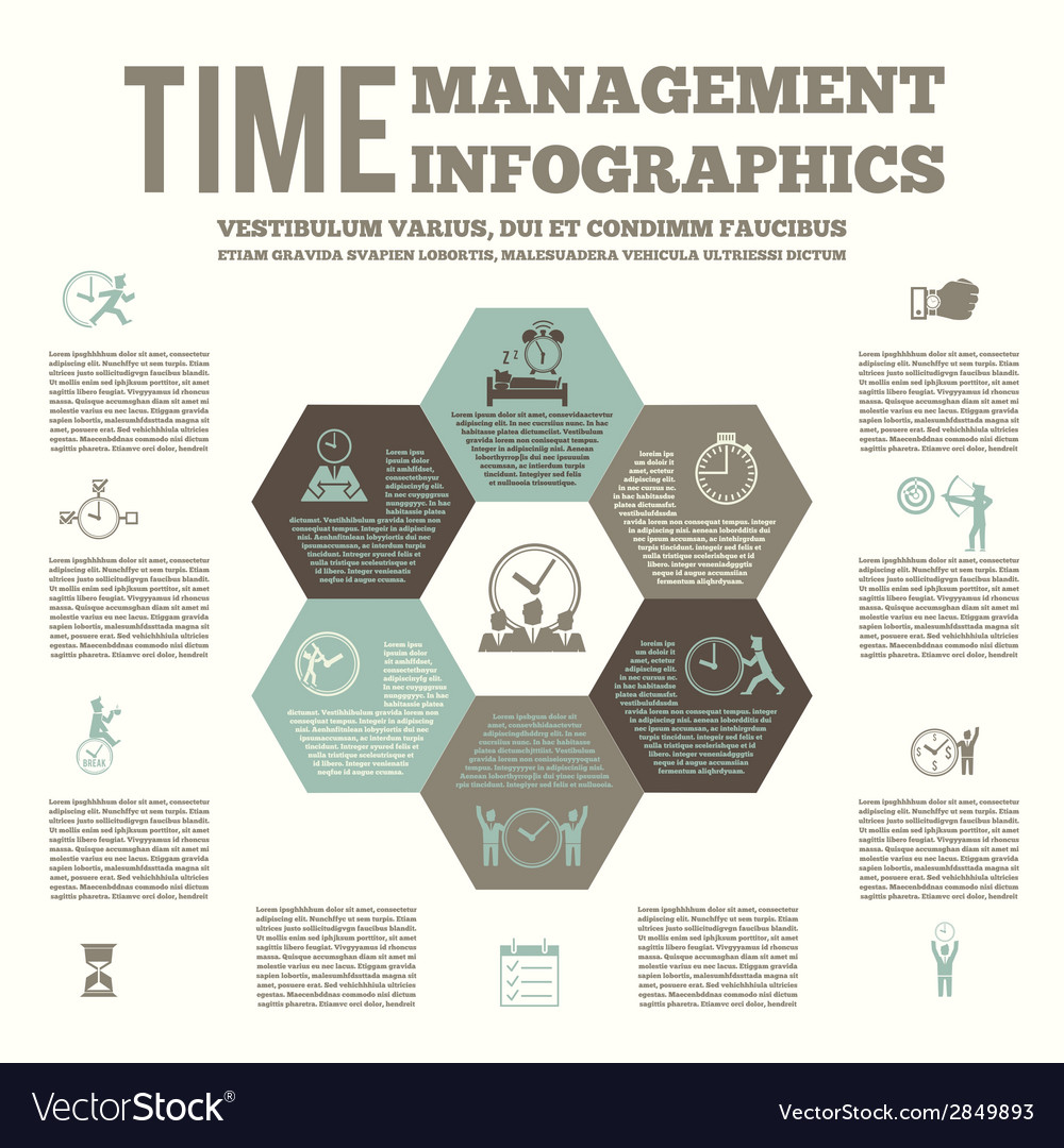 Time management infografic poster vector | Price: 1 Credit (USD $1)