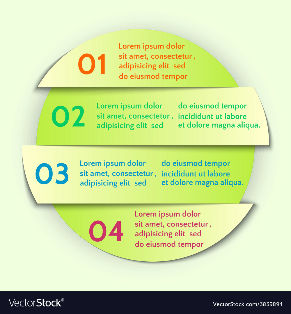 Abstract round list infographic element vector | Price: 1 Credit (USD $1)