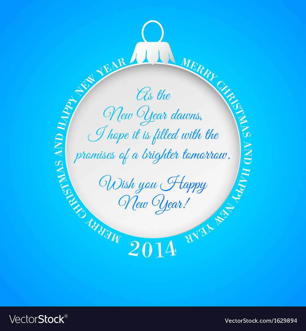 Blue greeting card with christmas-tree decoration vector | Price: 1 Credit (USD $1)