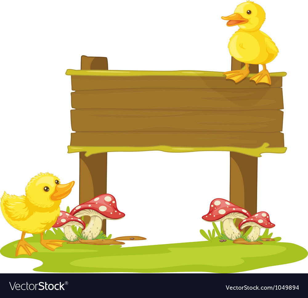 Board and duck vector | Price: 3 Credit (USD $3)