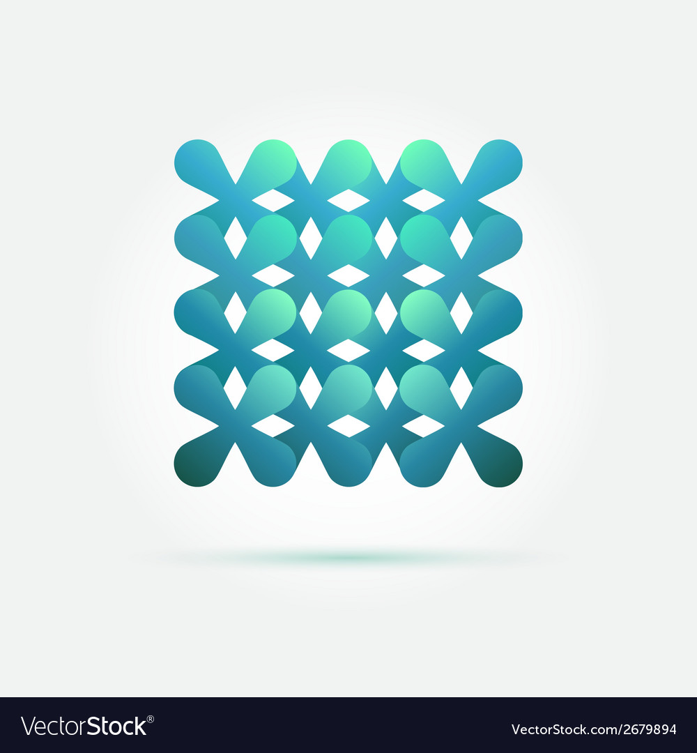 Creative technology symbol in soft green colors vector | Price: 1 Credit (USD $1)