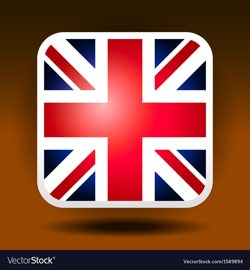 England flag ios icon style vector | Price: 1 Credit (USD $1)