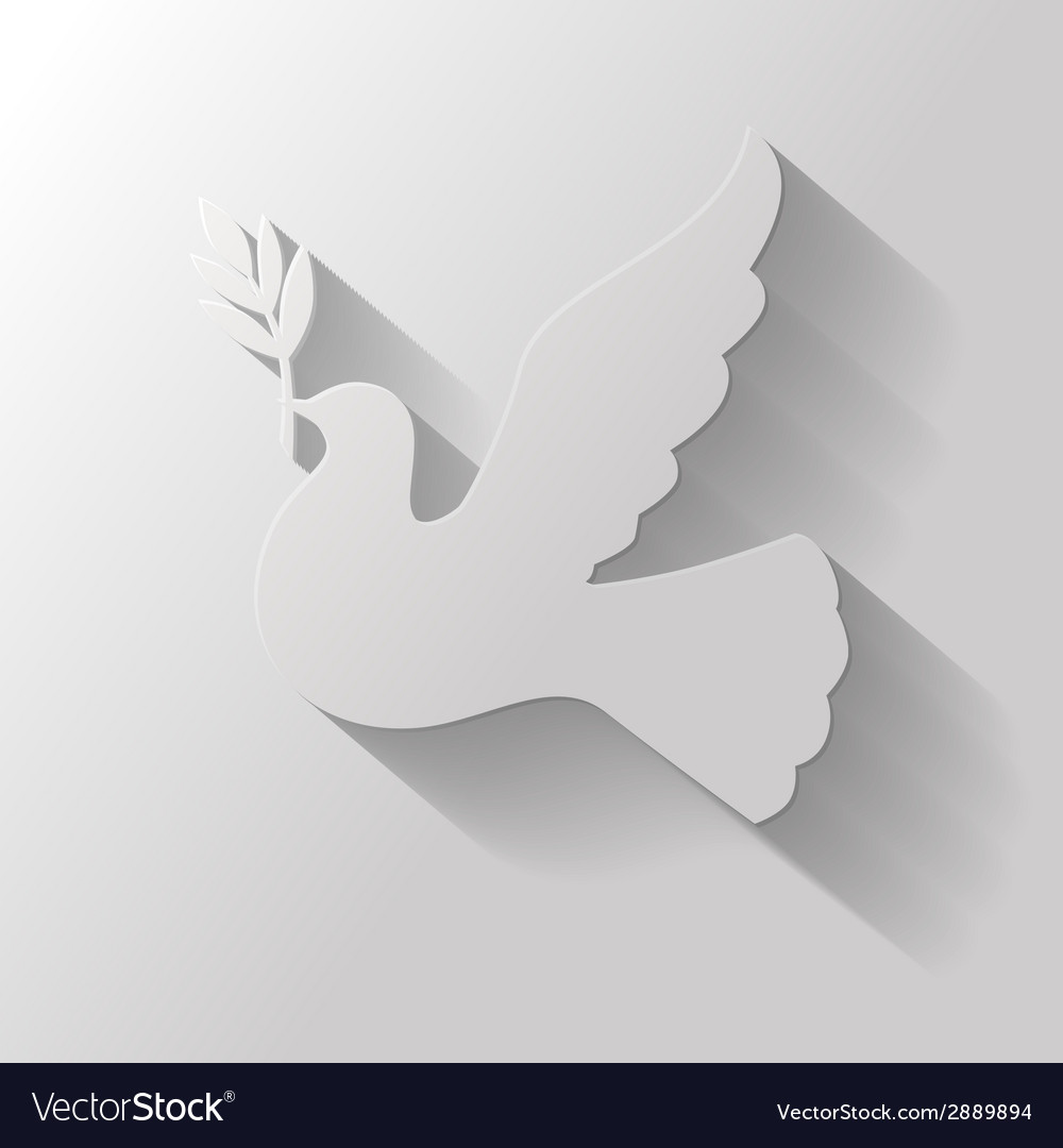 Flat dove vector | Price: 1 Credit (USD $1)