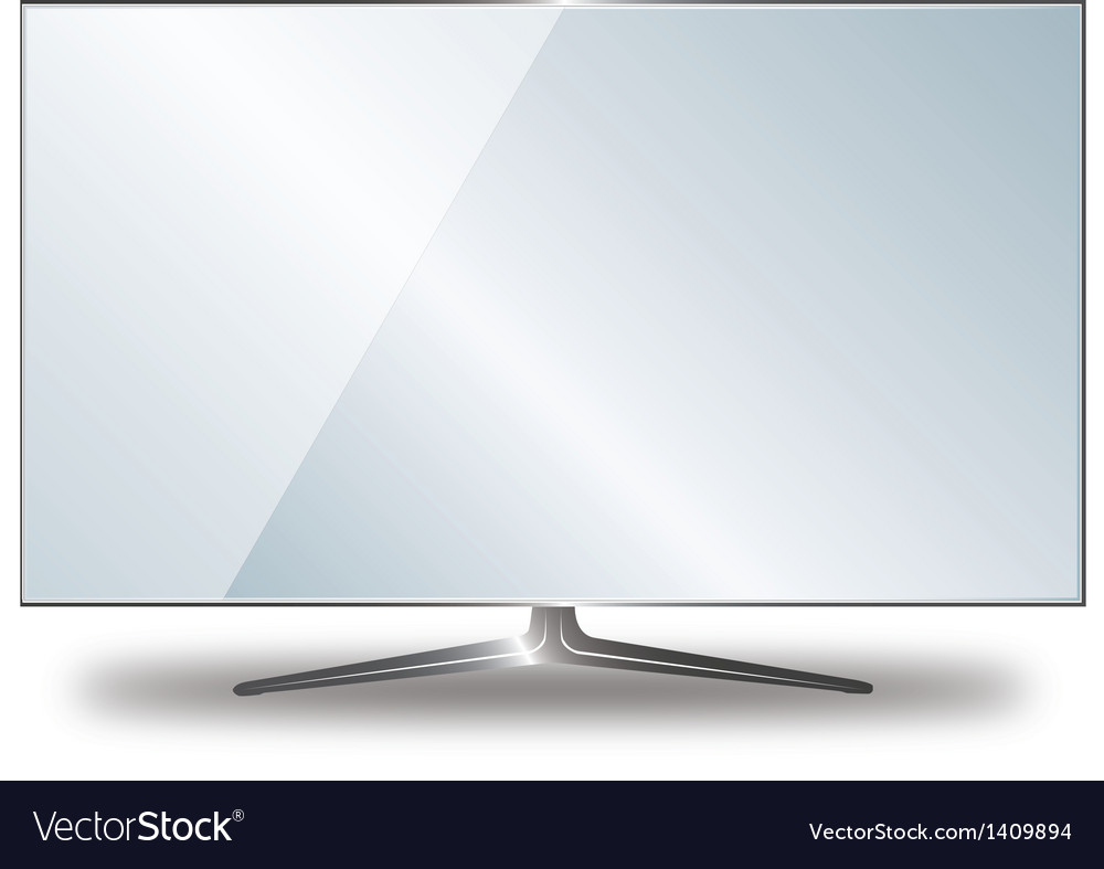 Flat tv vector | Price: 1 Credit (USD $1)
