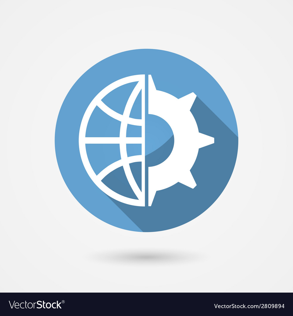 Global technology icon vector | Price: 1 Credit (USD $1)