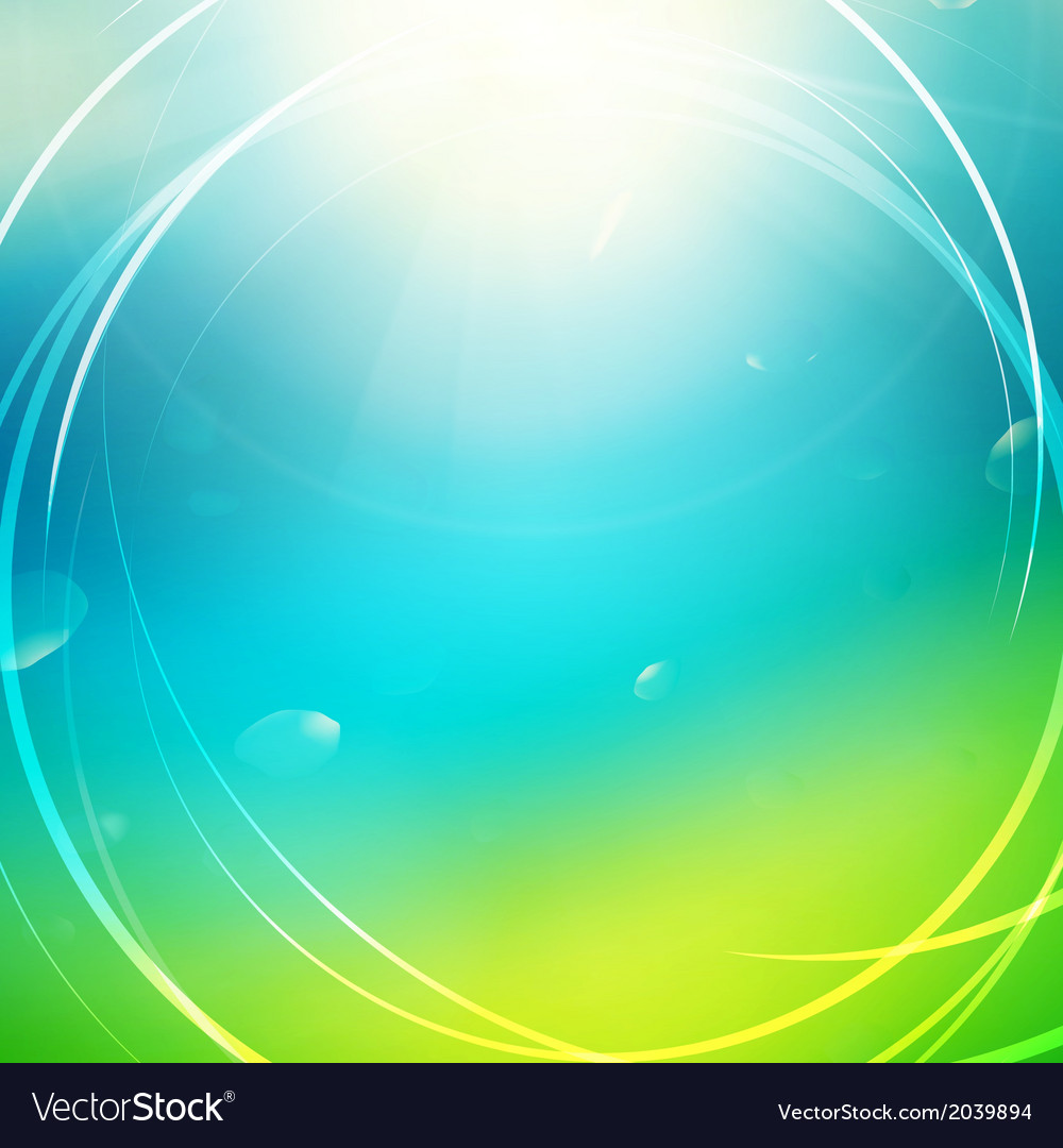 Green abstract sunny background vector | Price: 1 Credit (USD $1)