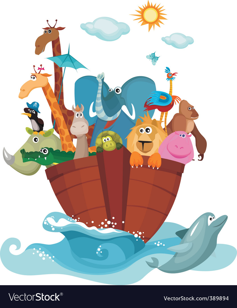 Noah's ark vector | Price: 3 Credit (USD $3)