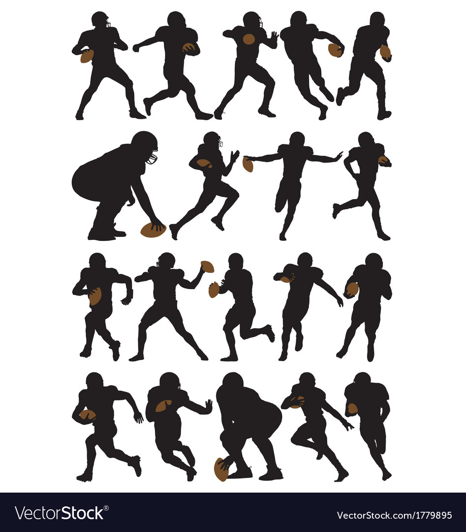 American football players vector | Price: 1 Credit (USD $1)