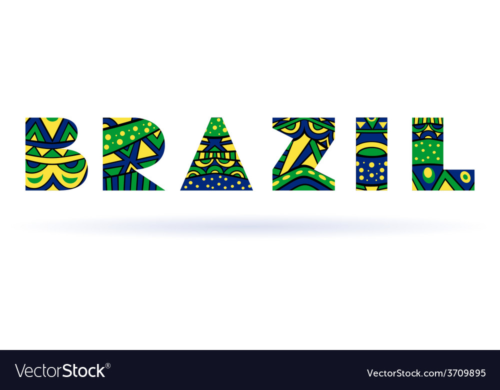 Brazil title vector | Price: 1 Credit (USD $1)