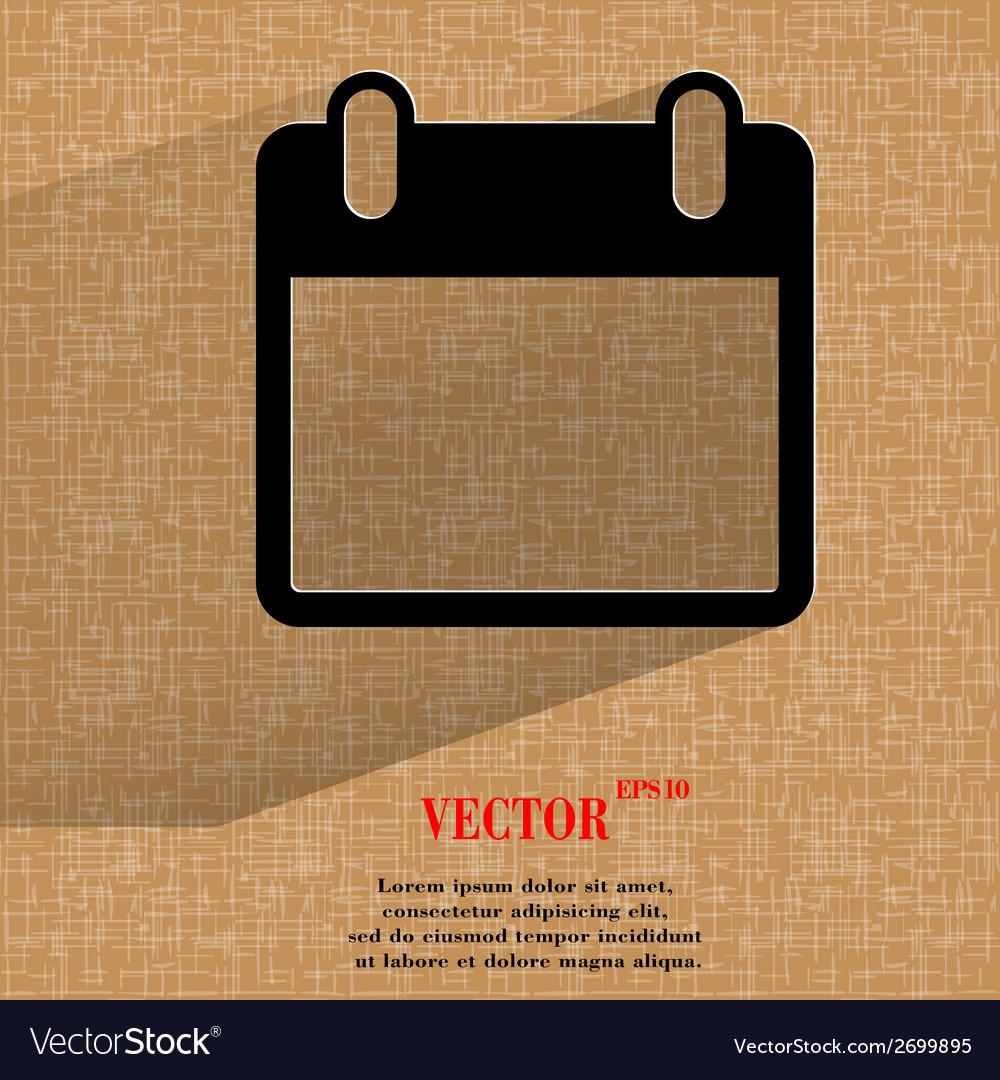 Calendar flat modern web design on a flat vector | Price: 1 Credit (USD $1)