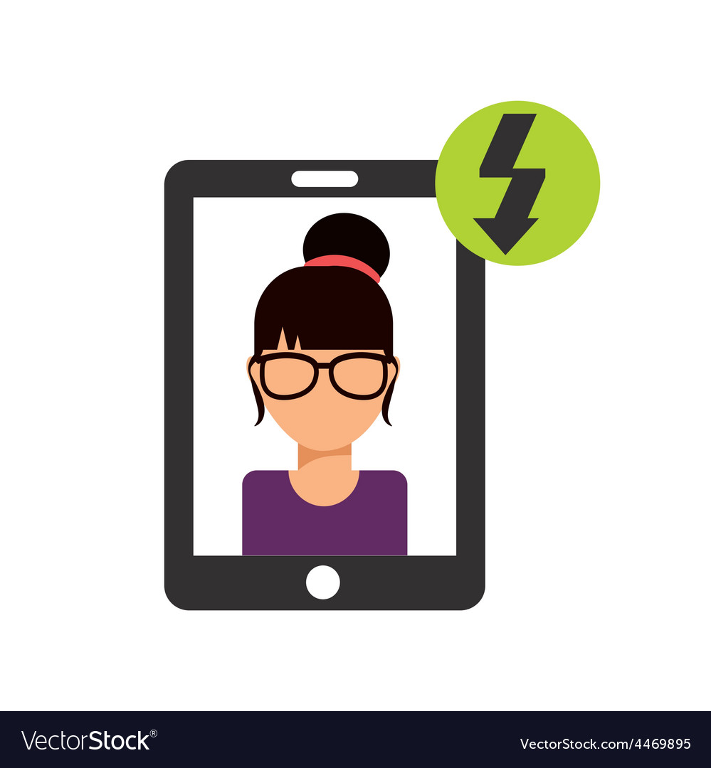 Cellphone service vector | Price: 1 Credit (USD $1)