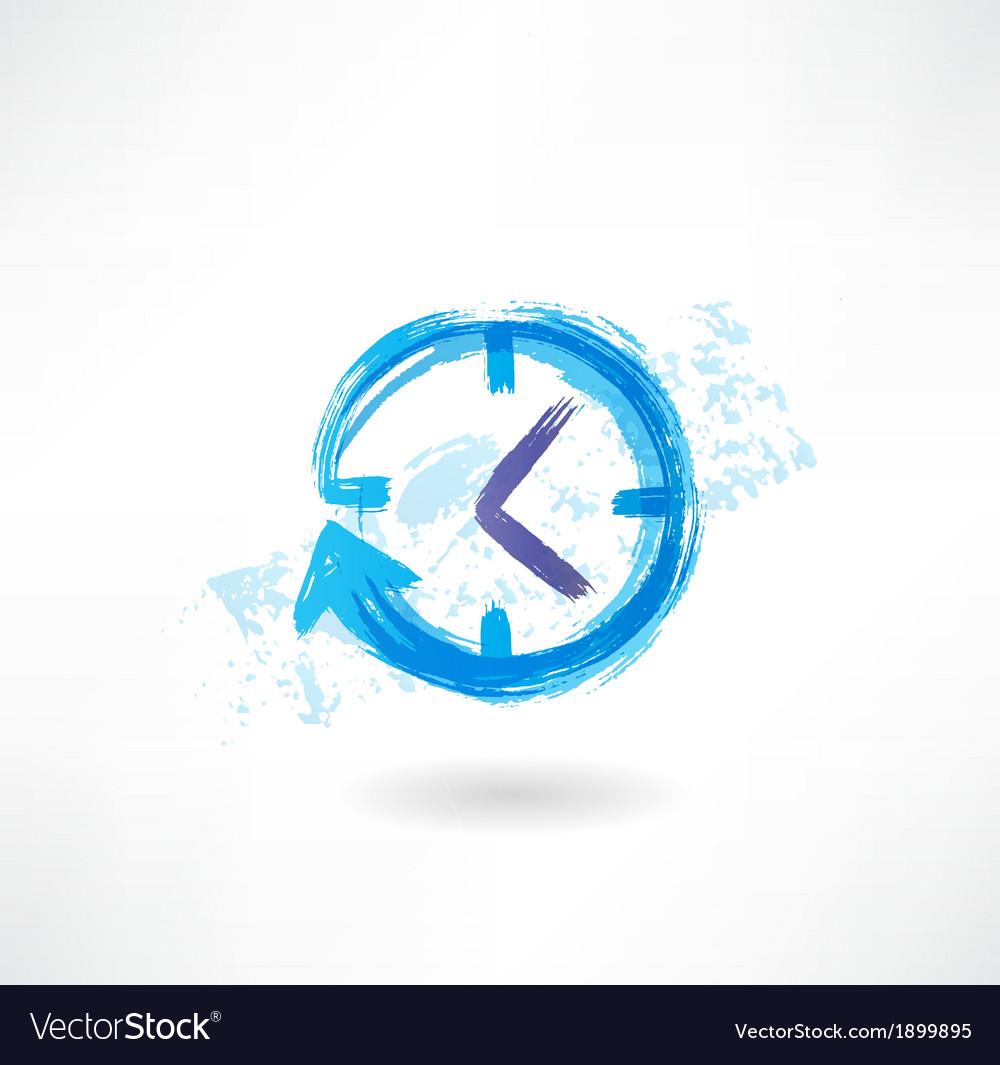 Clock arrow grunge icon vector | Price: 1 Credit (USD $1)
