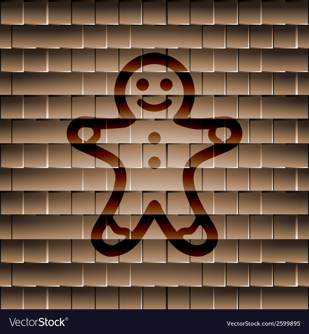 Gingerbread flat modern web button and space for vector | Price: 1 Credit (USD $1)