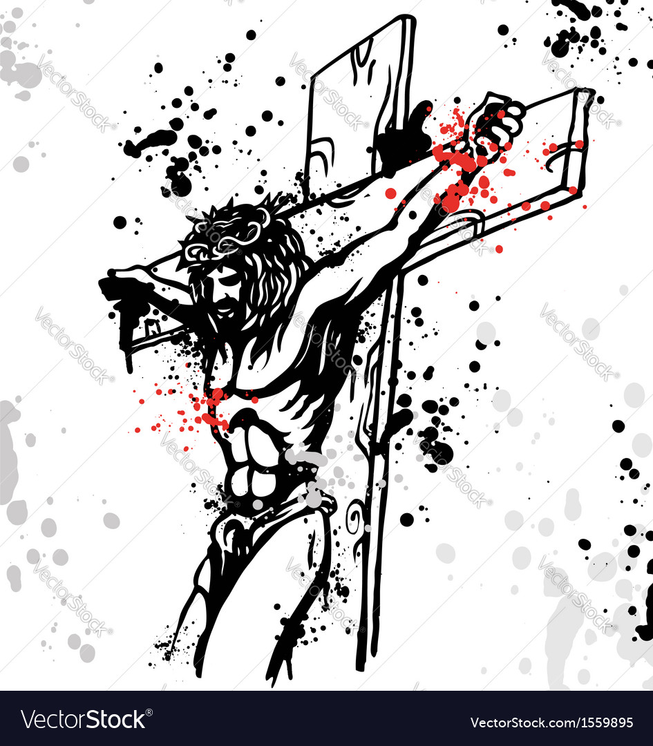 Jesus ink vector | Price: 1 Credit (USD $1)