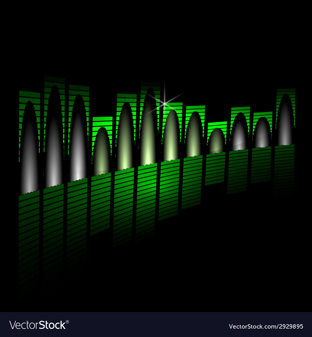Music equalizer beam on black background vector | Price: 1 Credit (USD $1)