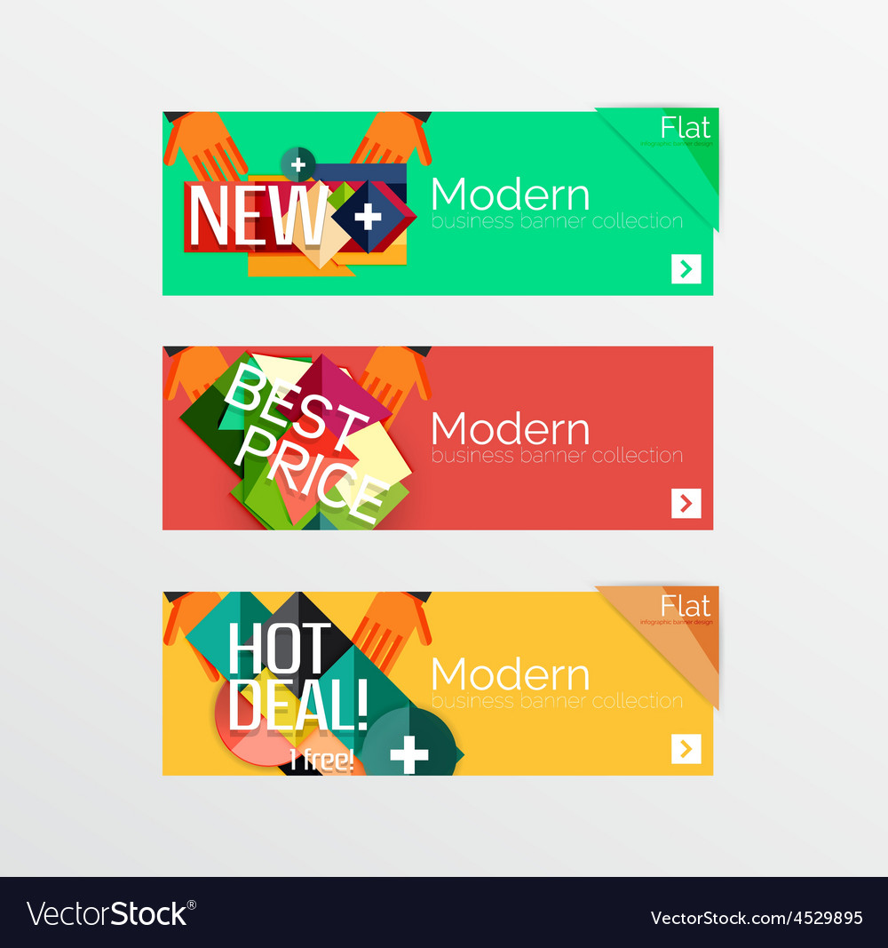 Set of banners with stickers labels and elements vector | Price: 1 Credit (USD $1)