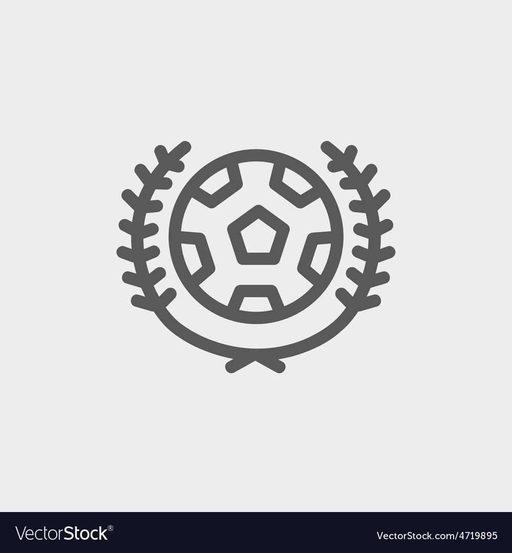 Sports soccer logo badges thin line icon vector | Price: 1 Credit (USD $1)