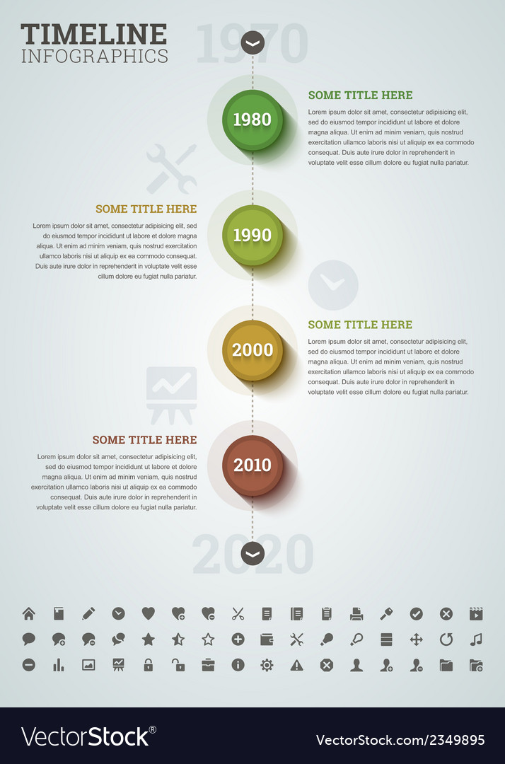Timeline infographic with icons vector | Price: 1 Credit (USD $1)