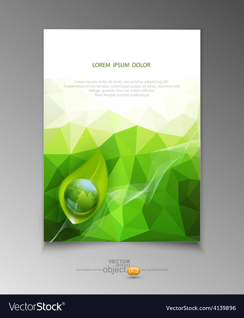 Abstract template brochure for business vector | Price: 1 Credit (USD $1)
