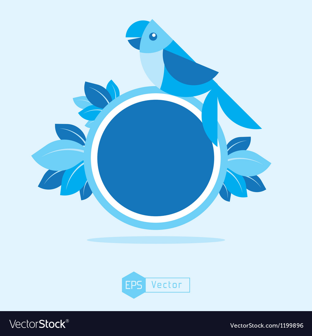 Blue bird sign 2 vector | Price: 1 Credit (USD $1)