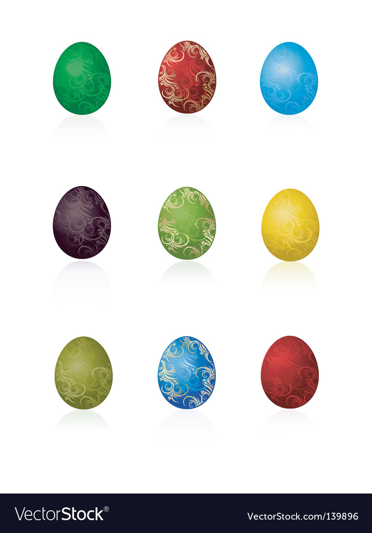 Easter eggs with pattern vector | Price: 1 Credit (USD $1)