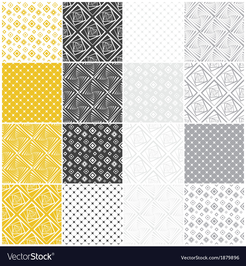 Geometric seamless patterns with squares vector | Price: 1 Credit (USD $1)