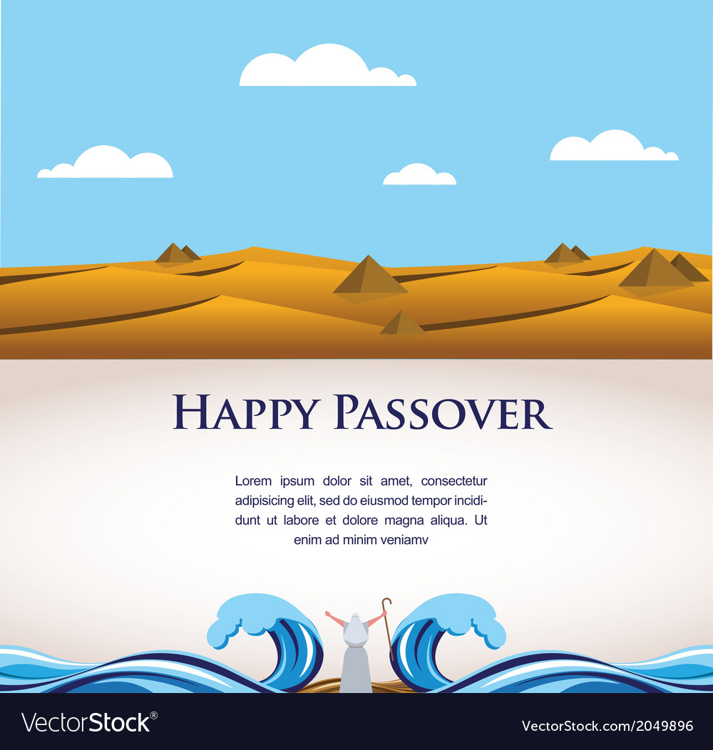 Happy passover- out of the jews from egypt vector | Price: 1 Credit (USD $1)