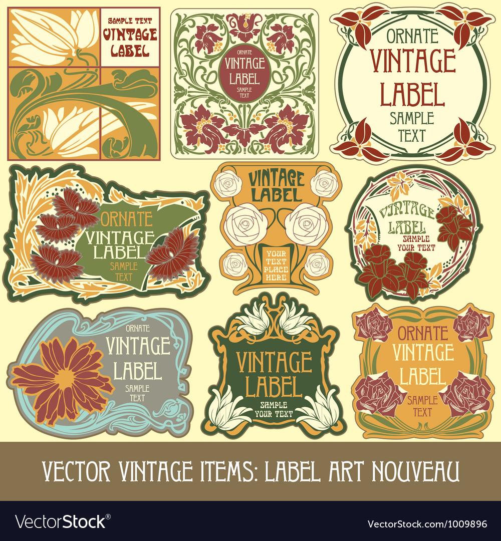 Label art nouveau vector | Price: 3 Credit (USD $3)