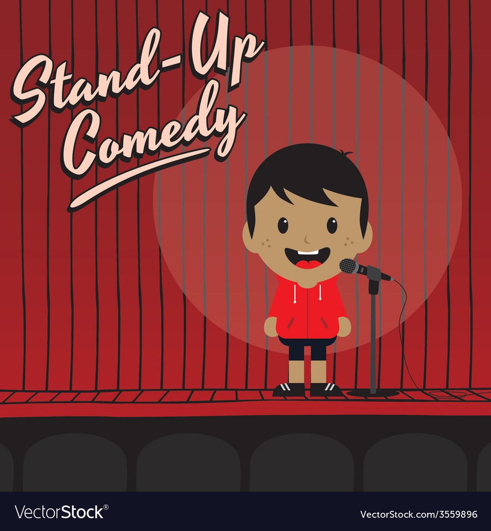 Male stand up comedian cartoon character vector | Price: 1 Credit (USD $1)