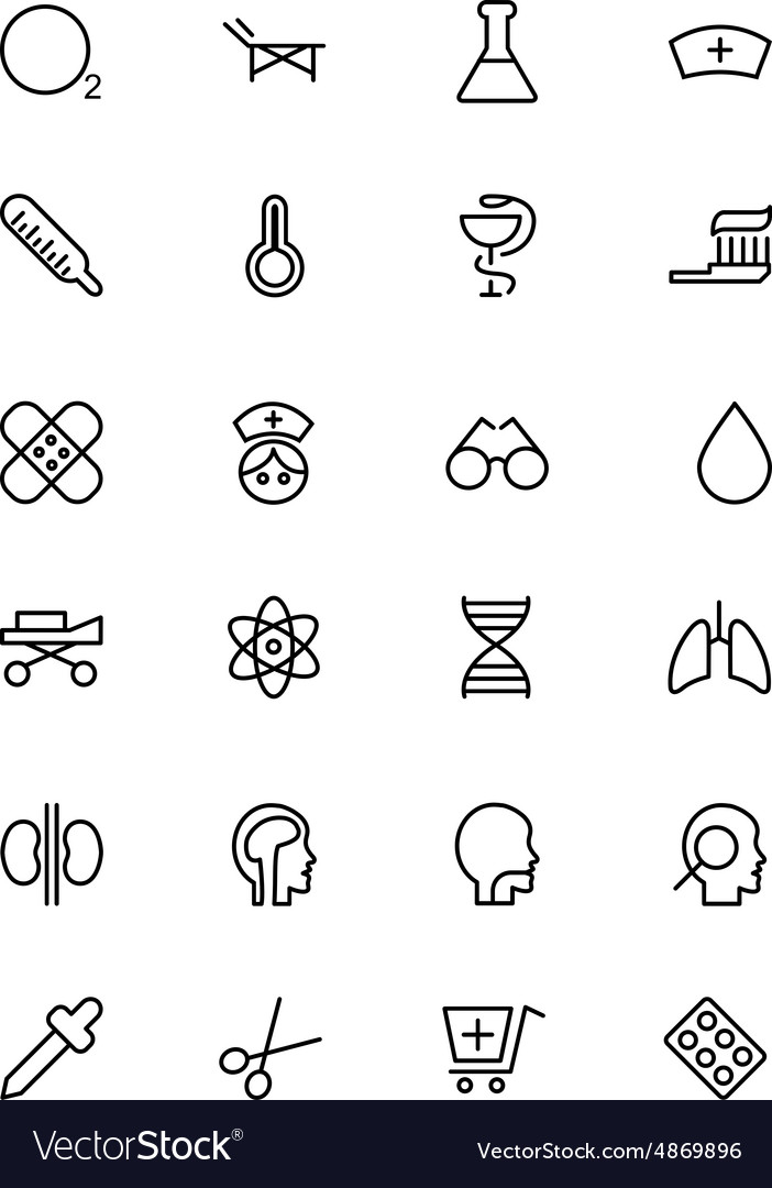 Medical line icons 2 vector