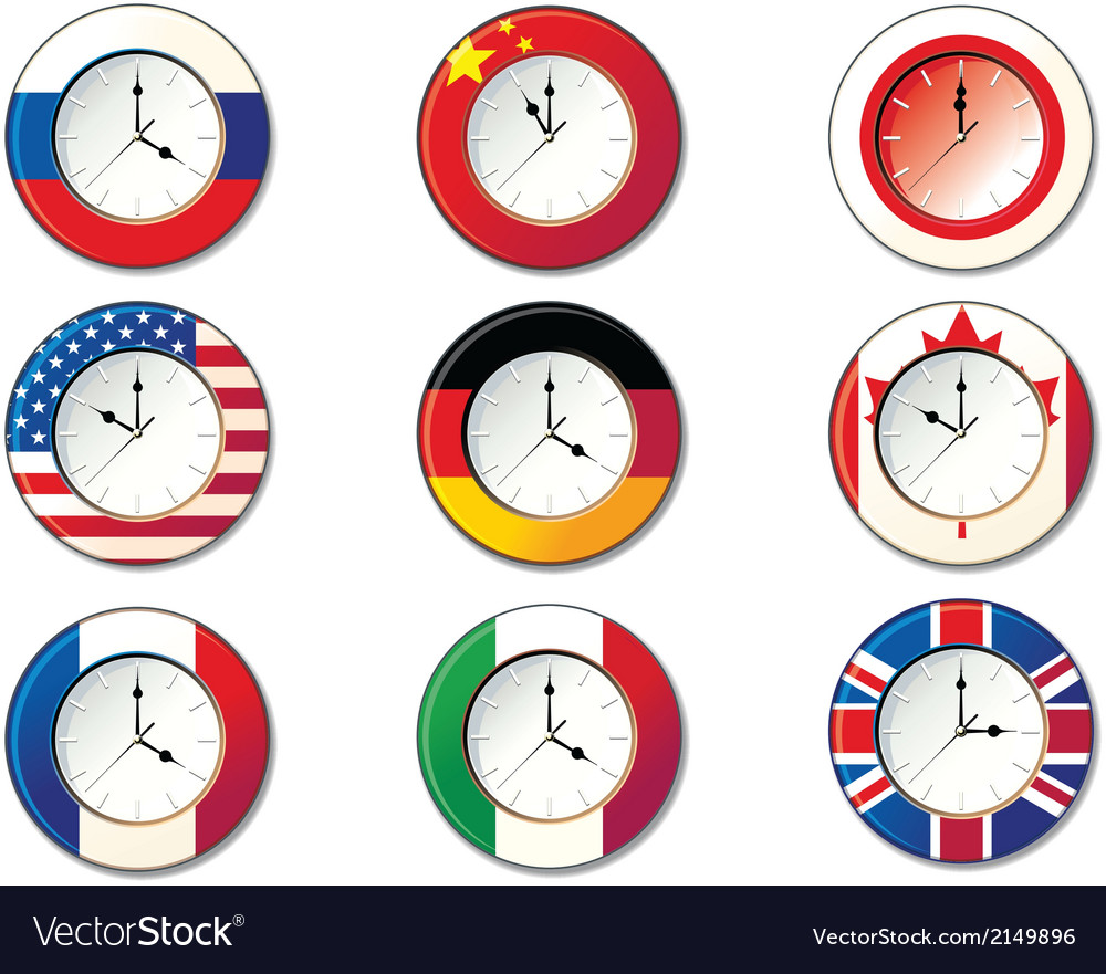 National clock vector | Price: 1 Credit (USD $1)