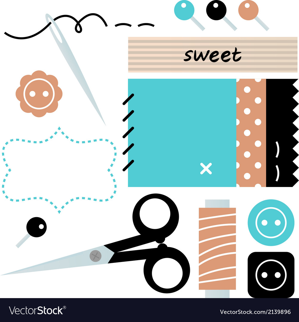 Sewing and needlework accessories vector   Price: 1 Credit (USD $1)